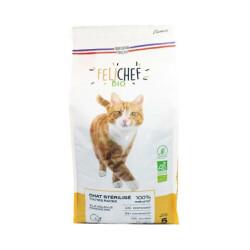 Croquettes Felichef Bio sans céréales pour chat stérilisé - Sac de 5kg