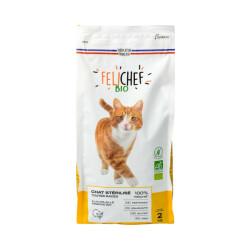 Croquettes Felichef Bio sans céréales pour chat stérilisé - Sac de 2kg