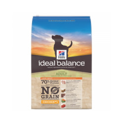 Croquettes Hill's Ideal Balance sans céréales pour chiens de grande race Poulet Sac 12 kg