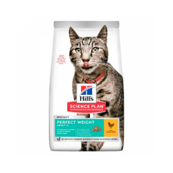 Croquettes Hill's Science Plan Adult Perfect Weight Poulet pour chat Sac 1,5 kg