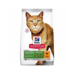 Croquettes Hill's Science Plan Feline Adult 7+ Youthful Vitality Poulet Sac 7 kg