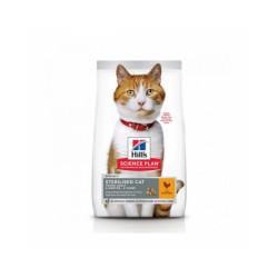 Croquettes Hill's Science Plan Feline Young Adult Sterilised au poulet pour chat Sac 1,5 kg
