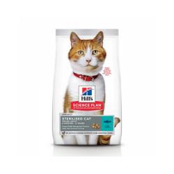 Croquettes Hill's Science Plan Feline Young Adult Sterilised au thon pour chat Sac 1,5 kg