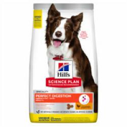 Croquettes Hill's Science Plan Perfect Digestion Medium au poulet pour chien adulte Sac 2,5 kg