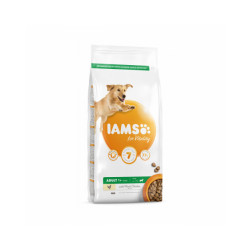 Croquettes IAMS for Vitality au poulet pour chien Adulte de Grande race - Sac 12 kg
