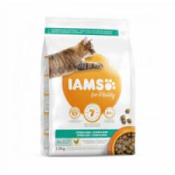 Croquettes IAMS Vitality au poulet pour chat stérilisé - Sac 1,5 kg