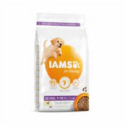Croquettes IAMS Vitality au poulet pour chiot de grande race - Sac 12 kg