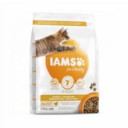 Croquettes IAMS Vitality boules de poils au poulet pour chat - Sac 1,5 kg
