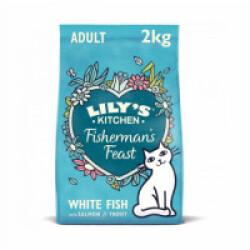 Croquettes Lily's Kitchen sans céréales au poisson et herbes pour chat - Sac 2 kg