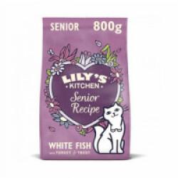 Croquettes Lily's Kitchen sans céréales au poisson pour chat senior - Sac 800 g