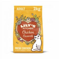 Croquettes Lily's Kitchen sans céréales au poulet et herbes pour chat - Sac 2 kg
