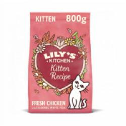 Croquettes Lily's Kitchen sans céréales au poulet pour chaton - Sac 800 g