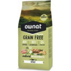 Croquettes Ownat Grain Free Prime Adult sans céréales pour chat adulte Sac 3 kg