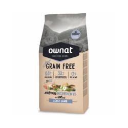 Croquettes Ownat Just Grain Free Adult sans céréales à l'agneau pour chien adulte