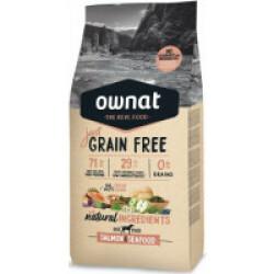 Croquettes Ownat Just Grain Free Adult sans céréales au poisson pour chien adulte Sac 14 kg