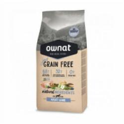 Croquettes Ownat Just Grain Free Adult sans céréales à l'agneau pour chien adulte Sac 14 kg