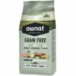 Croquettes Ownat Prime Grain Free Adult sans céréales au poulet pour chien adulte Sac 14 kg