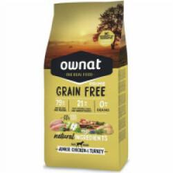 Croquettes Ownat Prime Grain Free Junior sans céréales au poulet pour chiot