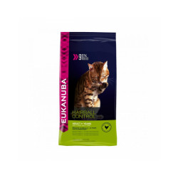 Croquettes pour chat Adulte Eukanuba Hairball Control Sac 2 kg