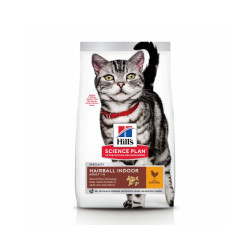 Croquettes pour chat adulte Hill's Science Plan Hairball Control Sac 1,5 kg
