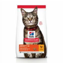 Croquettes pour chat adulte Hill's Science Plan santé et équilibre poulet Sac 1,5 kg
