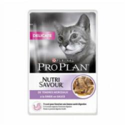 Croquettes pour chat adulte Pro Plan Delicate dinde et riz sac 1,5 kg