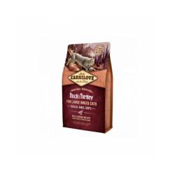 Croquettes pour chat grande race Carnilove Canard & Dinde Sac 2 kg