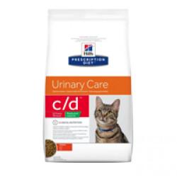 Croquettes pour chat Hill's Prescription Diet Feline C/D Urinary Care Reduced Calorie Sac 1,5 kg