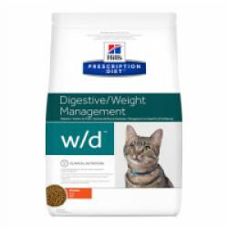 Croquettes pour chat Hill's Prescription Diet Feline W/D Sac 1,5 kg