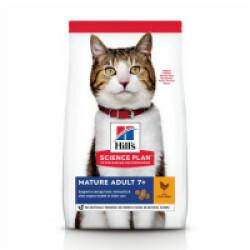 Croquettes pour chat mature actif Hill's Science Plan Longevity Poulet Sac 1,5 kg