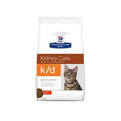 Croquettes pour chat Prescription Diet Feline K/D Hill's Poulet Sac 1,5 kg