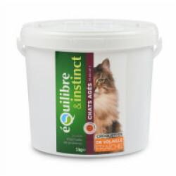Croquettes pour chat Senior Equilibre & Instinct volaille fraîche - Seau 5 kg