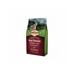 Croquettes pour chat spéciales boules de poil Carnilove Canard & Faisan Sac 2 kg