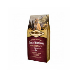 Croquettes pour chat stérilisé Carnilove Agneau & Sanglier Sac 6 kg