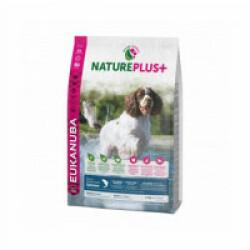 Croquettes pour chien adulte de moyenne race Eukanuba Natureplus saumon Sac 2,3 kg (DLUO 6 mois)