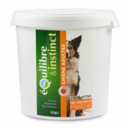 Croquettes pour chien Adulte Equilibre & Instinct volaille fraîche - Seau 14 kg (DLUO 6 mois)