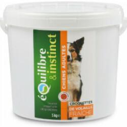 Croquettes pour chien Adulte Equilibre & Instinct volaille fraîche - Seau 5 kg (DLUO 6 mois)