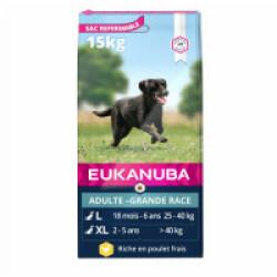 Croquettes pour chien adulte grandes races Eukanuba poulet Sac 3 kg