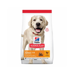 Croquettes pour chien adulte grandes races Hill's Science Plan Light Sac 14 kg
