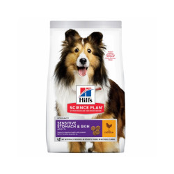 Croquettes pour chien adulte Hill's Science Plan Sensitive Stomach & Skin Sac 14 kg