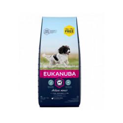 Croquettes Eukanuba Adulte Moyennes Races Sac 15 kg + 3 kg gratuits