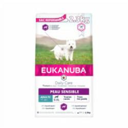 Croquettes pour chien adulte peau sensible Eukanuba Adulte Daily Care Sac 2,3 kg
