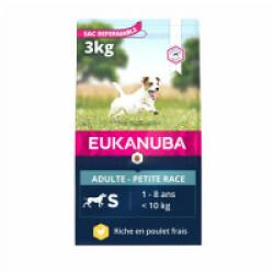 Croquettes pour chien adulte petites races Eukanuba Sac 3 kg