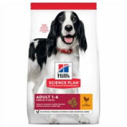 Croquettes pour chien adulte races moyennes Hill's Science Plan poulet Sac 2,5 kg