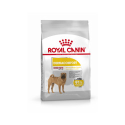 Croquettes pour chien adulte race moyenne Dermacomfort Royal Canin Sac 3 kg