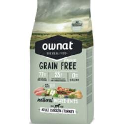 Croquettes pour chien adulte sans céréales Ownat Prime Grain Free Sac 14 kg