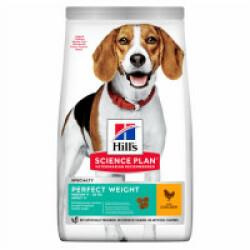 Croquettes pour chien de race moyenne Hill's Science Plan Canine Perfect Weight Medium Poulet Sac 12 kg