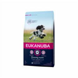 Croquettes pour chien Eukanuba Junior Moyennes Races Growing Puppy Sac 3 kg