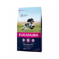 Croquettes Eukanuba Junior Moyennes Races Sac 15 kg
