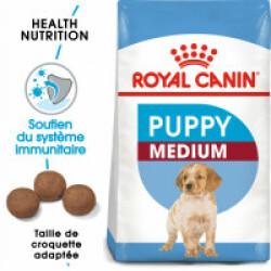 Croquettes pour chien junior race moyenne Royal Canin Puppy Medium Sac 4 kg